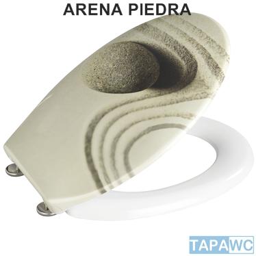 Asiento inodoro sand and stone amortiguado tapawc exclusiv - Tapas wc decoradas ...