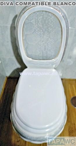 Asiento inodoro DIVA 23 tapawc compatible Globo