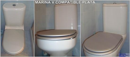 Asiento inodoro MARINA V tapawc compatible Gala