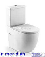 Asiento inodoro MERIDIAN-N COMPACTO tapawc compatible Roca