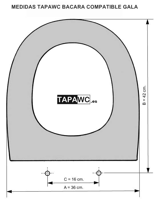 Asiento inodoro BACARA tapawc compatible Gala