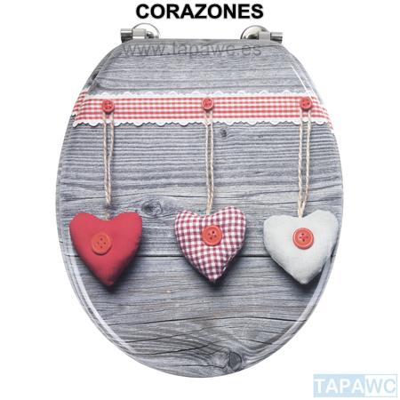 Asiento CORAZONES tapawc decora