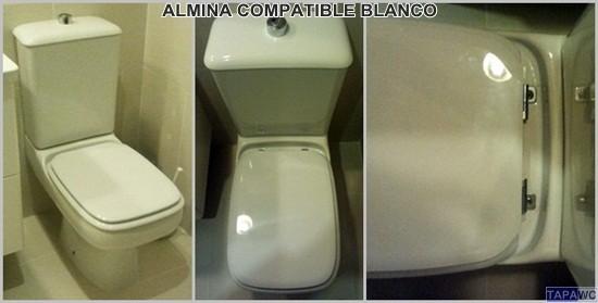 Asiento inodoro almina tapawc compatible bellavista for Tapaderas de wc
