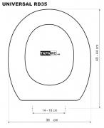 Asiento inodoro REDONDO 35 DMF RD35 tapawc standard