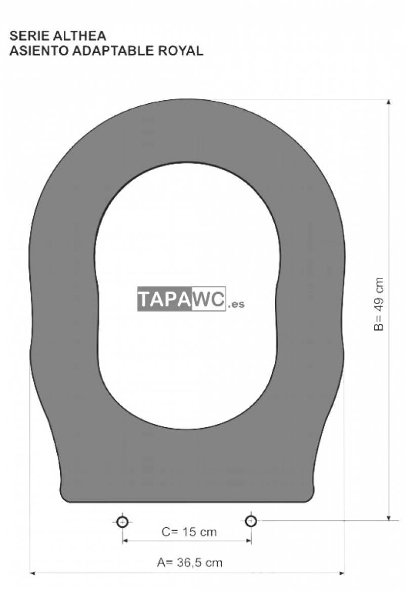 Asiento inodoro ROYAL tapawc compatible Althea