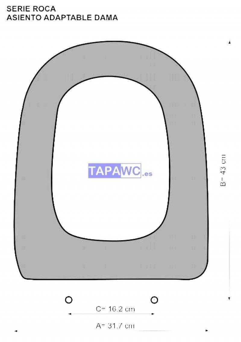 Asiento inodoro dama retro tapawc compatible roca adaptable - Tapa wc roca dama ...
