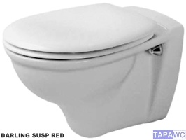 Asiento inodoro DARLING RED DO15 tapawc compatible DURAVIT
