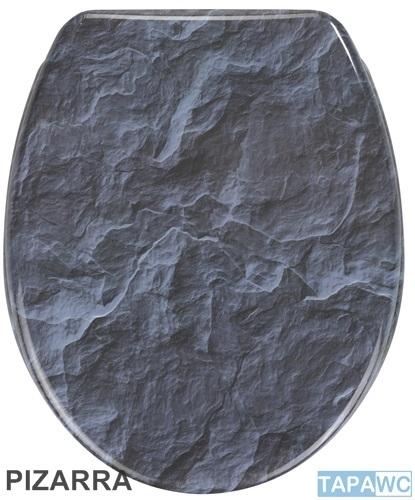 Asiento PIZARRA amortiguado tapawc decora