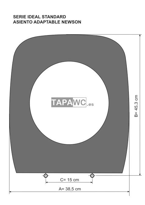 Asiento inodoro NEWSON tapawc compatible AMORTIGUADO Ideal Standard