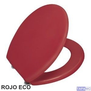Asiento LISO ROJO ECO DM tapawc standard