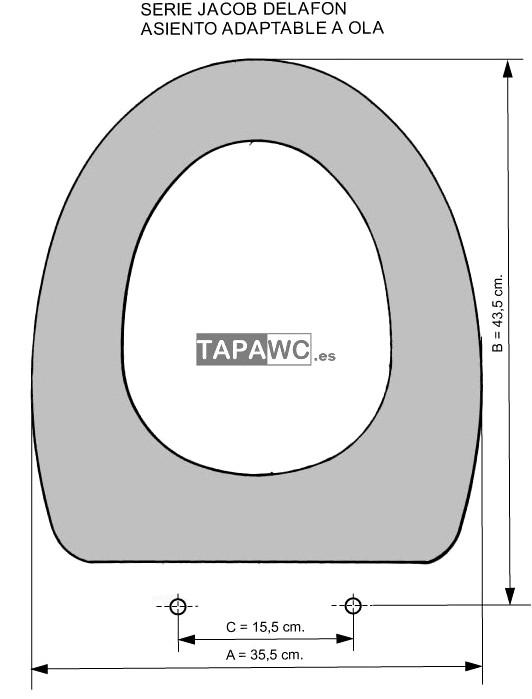 Asiento inodoro OLA tapawc compatible Jacob Delafon