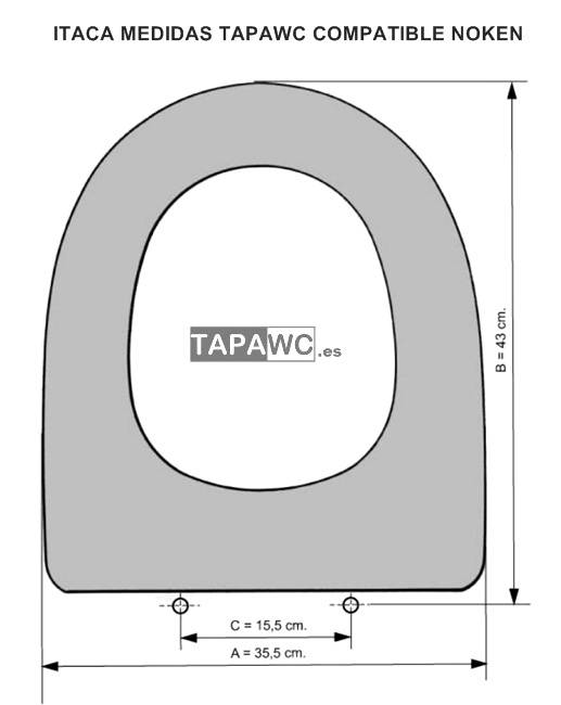 Asiento inodoro ITACA tapawc compatible Noken