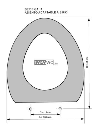 Asiento inodoro SIRIO tapawc compatible Gala