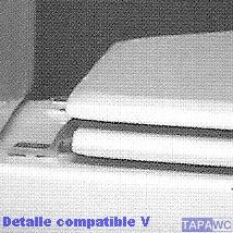 Asiento inodoro HALL d.o.20 tapawc compatible fijo Roca