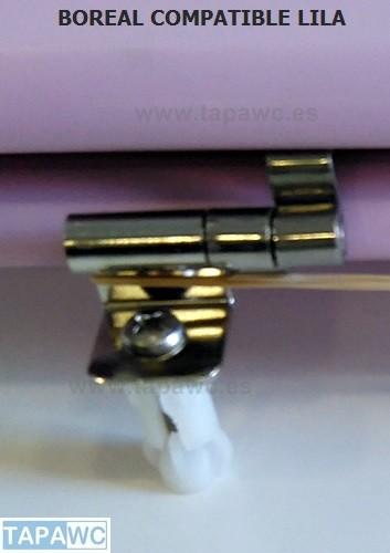 Asiento inodoro BOREAL tapawc compatible Sangra color LILA oferta unidad única