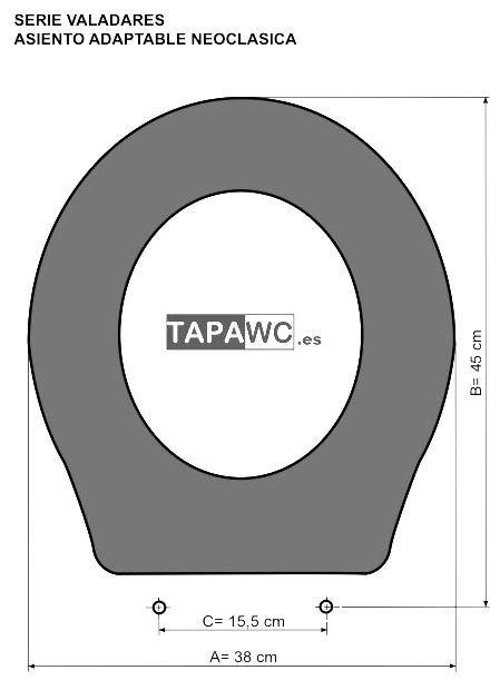 Asiento inodoro NEOCLASICA tapawc compatible Valadares