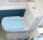 Asiento inodoro DAMA SENSO COMPACTO t compatible Roca