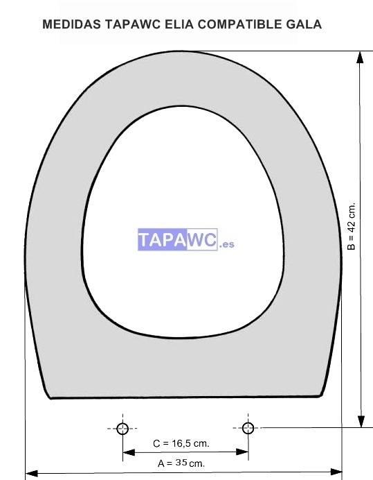 Asiento inodoro NILA tapawc compatible Gala