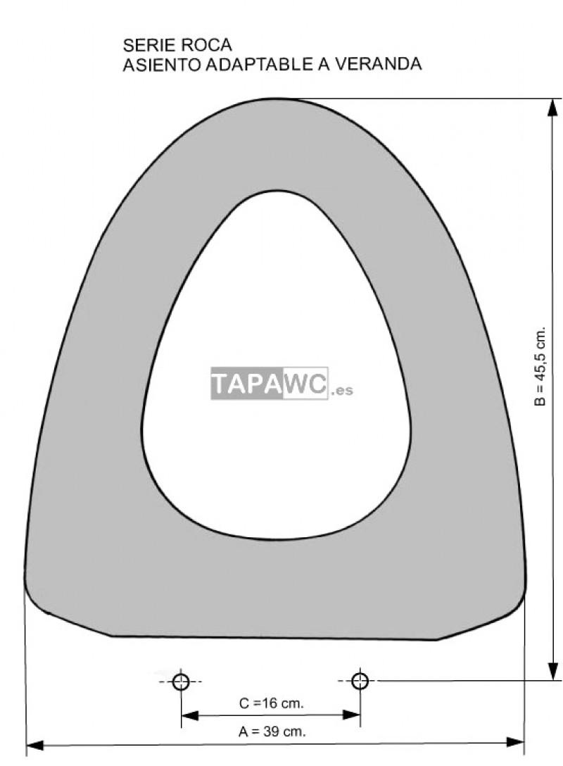Asiento inodoro VERANDA tapawc compatible Roca