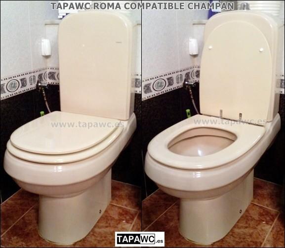 Asiento inodoro ROMA tapawc compatible amortiguado Porsan Sangra