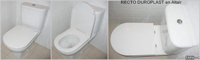 Tapa inodoro  RECTO DUROPLAST RT36 tapawc standard