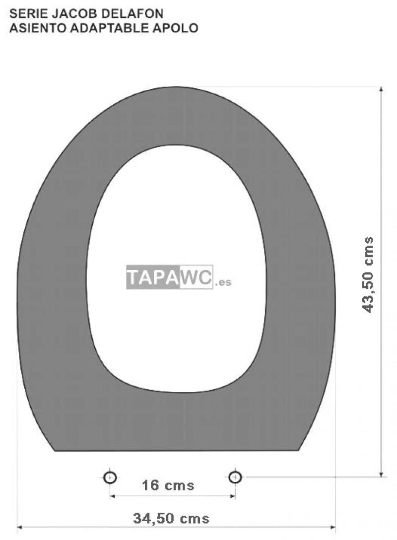 Asiento inodoro APOLO tapawc compatible Jacob Delafon