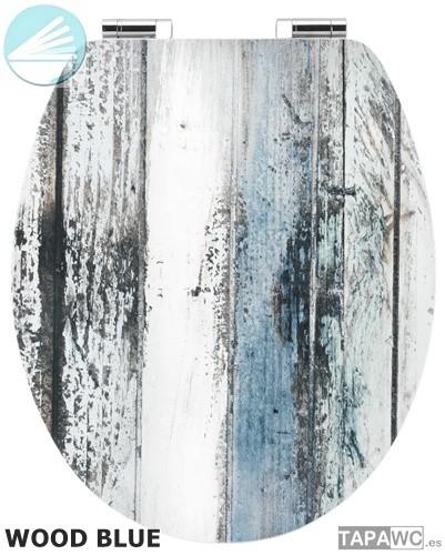 asiento wood blue amortiguado tapawc decora imitacion madera. Black Bedroom Furniture Sets. Home Design Ideas