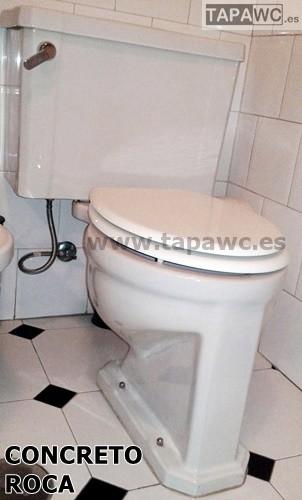 Asiento inodoro concreto tapawc compatible roca for Inodoro y bidet roca