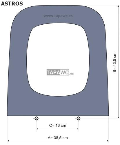 Asiento inodoro ASTROS tapawc compatible Jacob Delafon