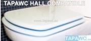 Asiento inodoro HALL SUSPENDIDO COMPACTO d.o.16 tapawc compatible Roca