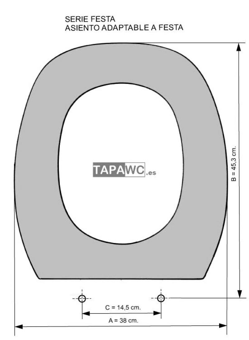 Asiento inodoro FESTA tapawc compatible Jacob Delafon Kerax