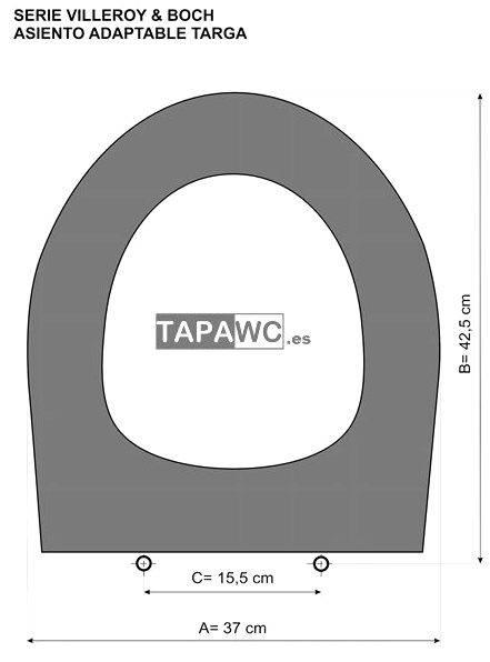 Asiento inodoro TARGA tapawc compatible Villeroy