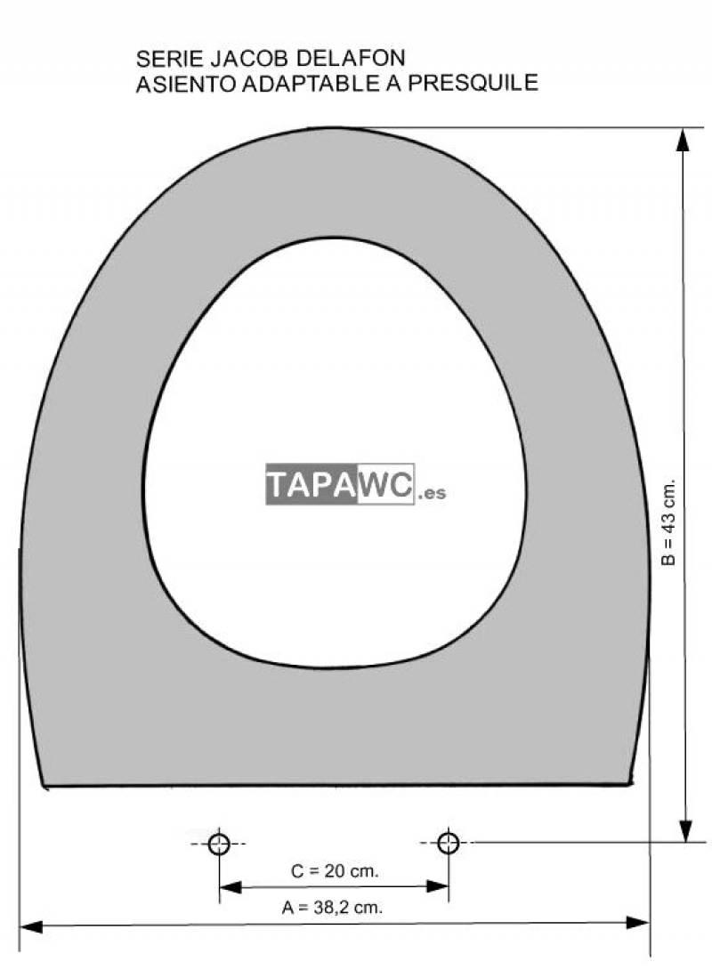 Asiento inodoro PRESQUILE tapawc compatible Jacob Delafon
