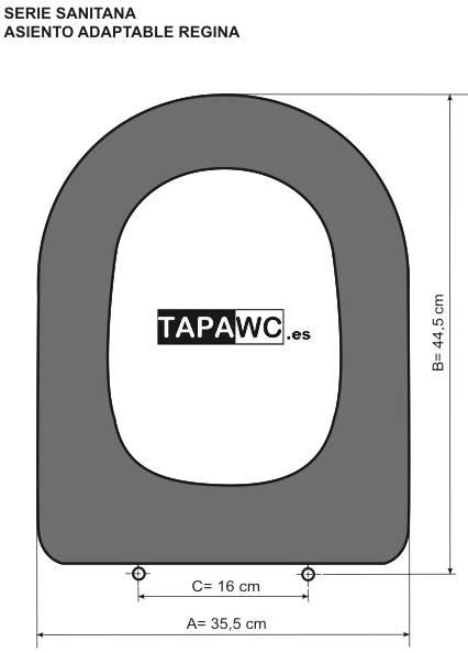 Asiento inodoro REGINA amortiguado tapawc compatible Sanitana