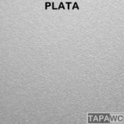 Tapa inodoro compatible metalizado PLATA tapawc