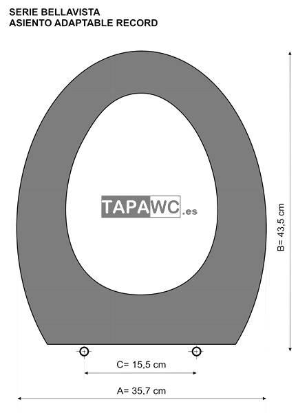 Asiento inodoro RECORD tapawc compatible Bellavista