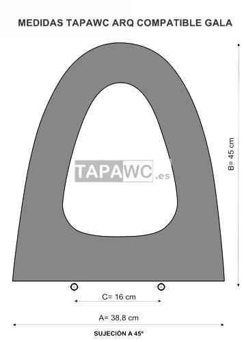 Asiento inodoro ARQ tapawc compatible Gala