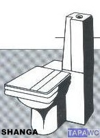 Asiento inodoro SHANGA tapawc compatible Selles