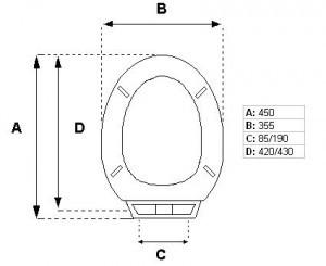 Tapa inodoro  REDONDO ECO 35 PP RD35 tapawc standard