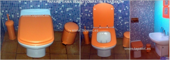 Asiento inodoro DAMA SENSO tapawc compatible Roca