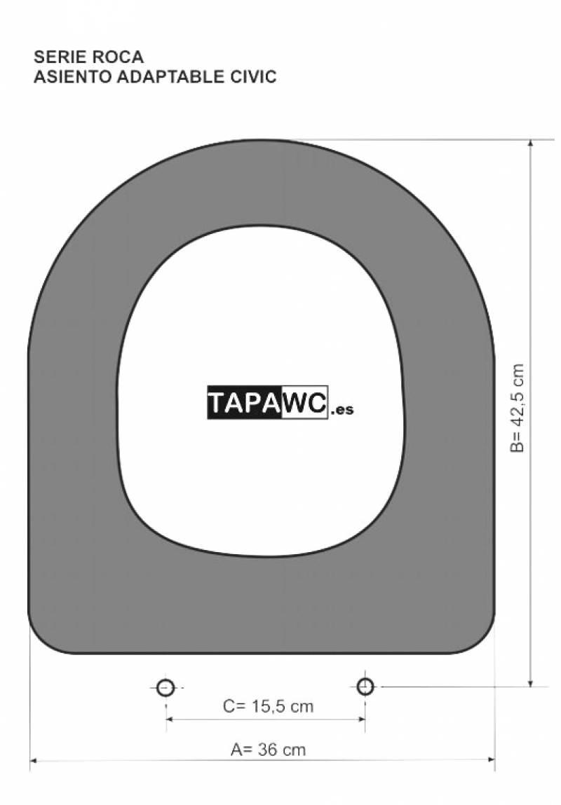 Asiento inodoro CIVIC tapawc compatible Roca
