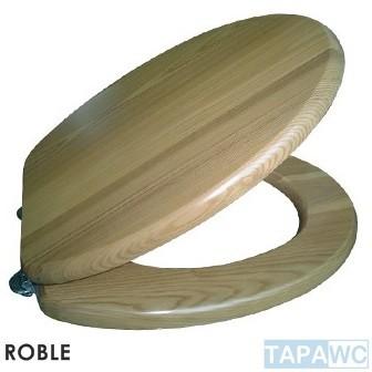 Tapa inodoro standard roble tapawc madera for Tapa inodoro madera