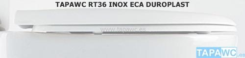 Tapa inodoro  RECTO DUROPLAST RT36 eca tapawc standard