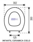 Asiento inodoro INFANTIL C.CIELO tapawc compatible