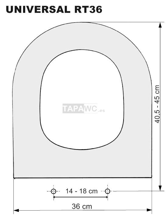 Tapa inodoro recto rt36 dmf tapawc standard for Tapas de wc universales