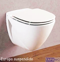 Asiento inodoro SUSPENDIDO EUROPA AMORTIGUADO tapawc compatible Porsan/Sangra