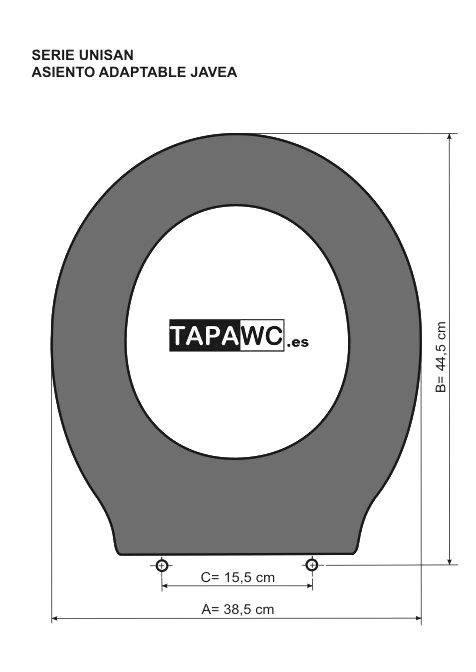 Asiento inodoro JAVEA tapawc compatible Unisan