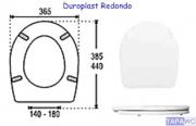 Asiento inodoro REDONDO DUROPLAST RD35 tapawc standard