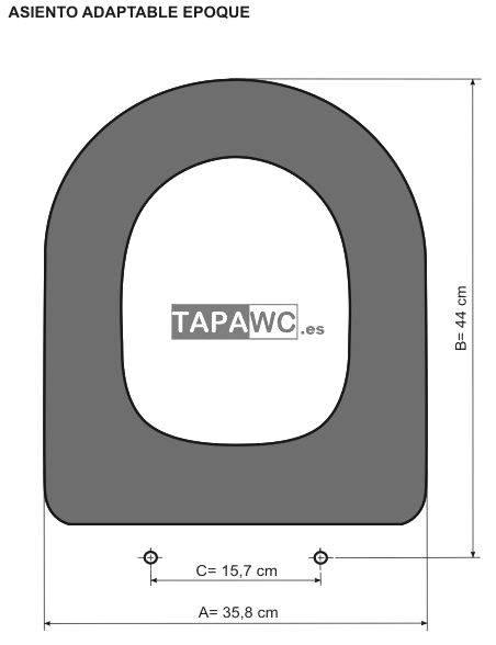 Asiento inodoro BOCAGE amortiguado tapawc compatible Porcher ideal standard