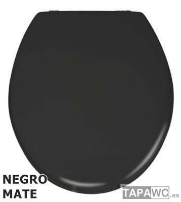 Asiento LISO NEGRO MATE ECO DM tapawc standard